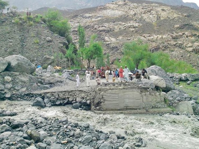 bridges and roads have been washed away disconnecting ghizer valley from gilgit and other areas photo qasim shah