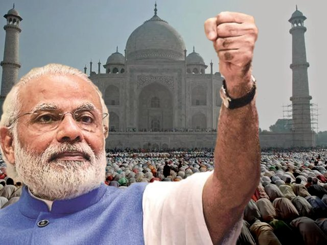 Development is just a slogan for Modi – his real agenda is to alter the ethos of the country and define the nation from the narrow prism of the religious majority