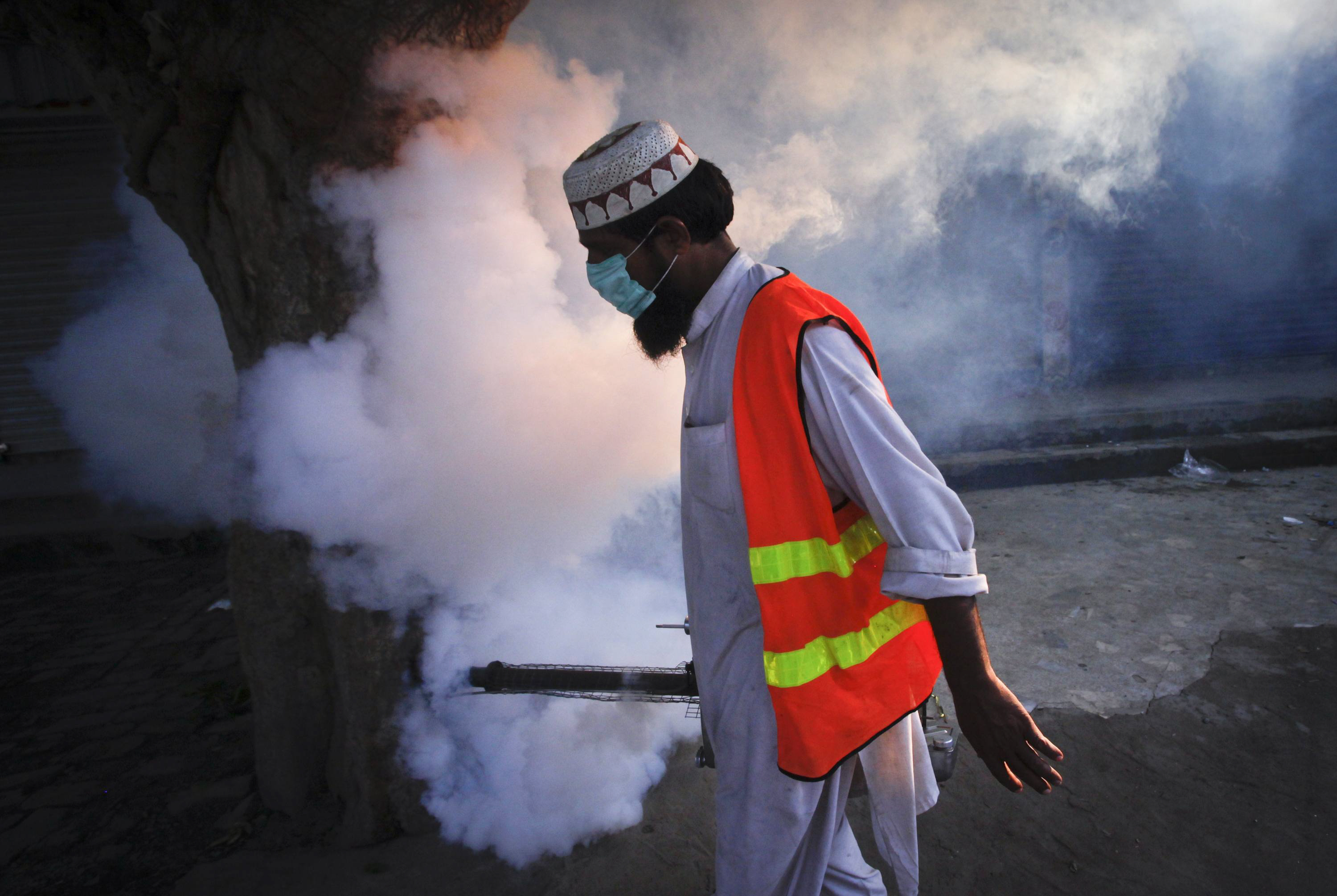 on tuesday karachi commissioner shoaib ahmed siddiqui directed the kmc officials to immediately initiate the fumigation drive across the city as part of the drive low lying areas where water is most likely to accumulate as well as drain nalas will be targeted to eliminate the spread of mosquitos which are responsible for causing malaria and other infectious diseases photo reuters file