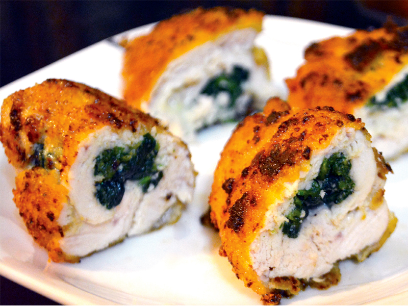 recipe stuffed chicken with spinach and feta cheese