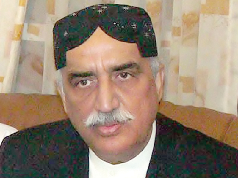 leader of the opposition in na syed khursheed ahmed shah