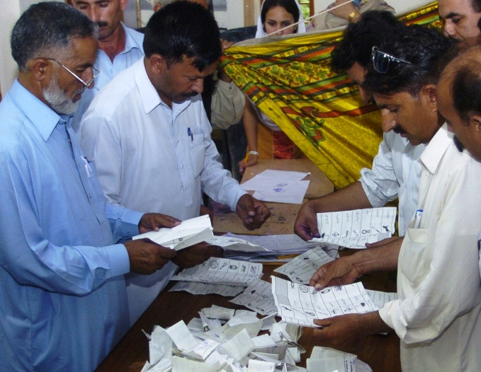haider waheed said that the election tribunal had ordered nadra to verify thumb impressions on the votes cast at the 59 polling stations of the constituency on an appeal filed by the losing candidate khalid ahmed lund photo afp file