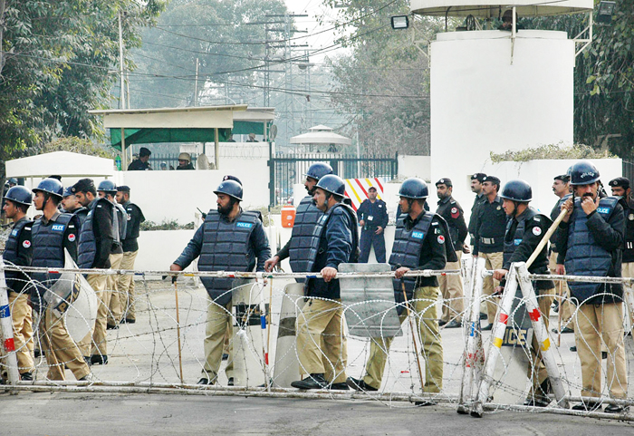 file photo of the us consulate in lahore during a protest photo online file