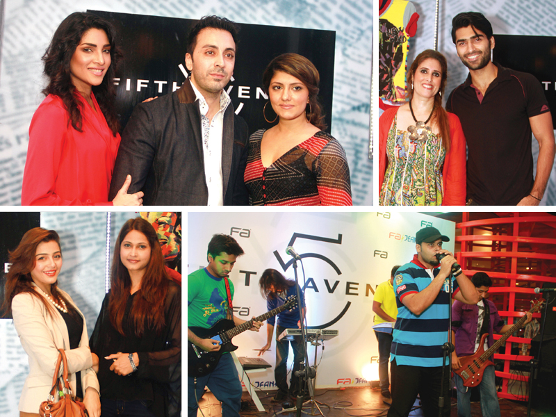 fifth avenue opened the doors to its 20th retail outlet in ocean towers karachi on tuesday evening photos publicity
