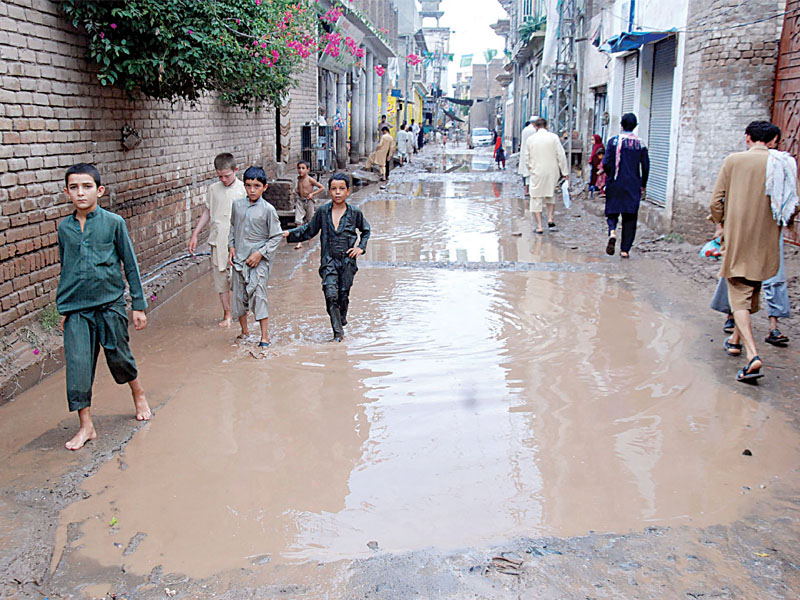 we believe that the provincial government has overlooked the destruction caused by rain in suburban areas including saadi town amroha town and prem villas dr siddiqui told the express tribune photo express file