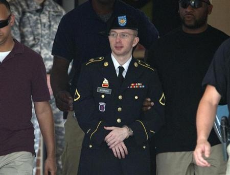 us army pfc bradley manning being escorted out of a courthouse at fort meade in maryland photo reuters file