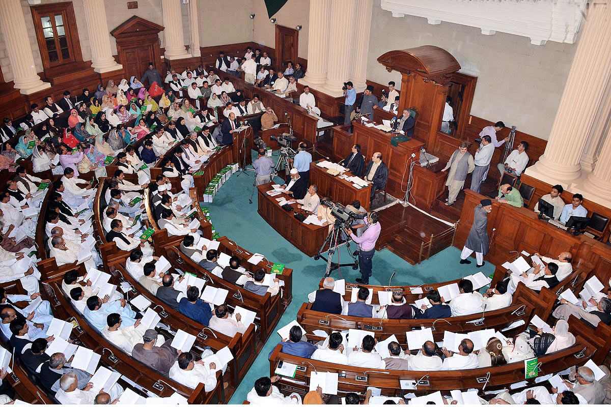 local government minister rana sanaullah presenting the plg bill 2013 photo online file