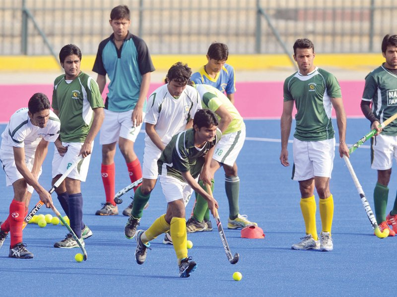 the camp will continue at the same pace the coach told the express tribune photo mehmood qureshi express file