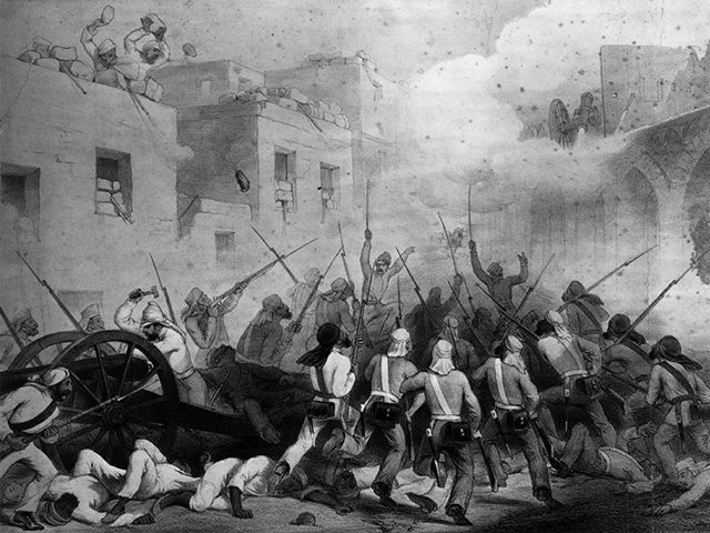 1857: British soldiers storming Delhi during the Indian Mutiny. PHOTO: GETTY