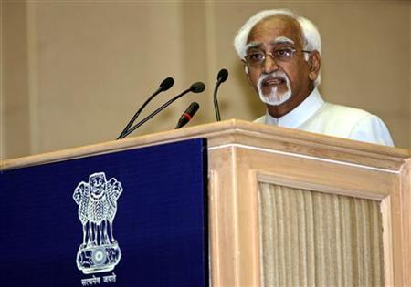 india 039 s vice president mohammad hamid ansari photo reuters