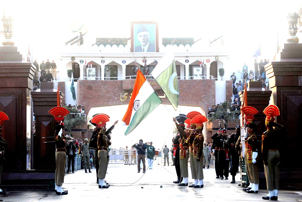a flag exchaning ceremony at the wagah border photo afp file