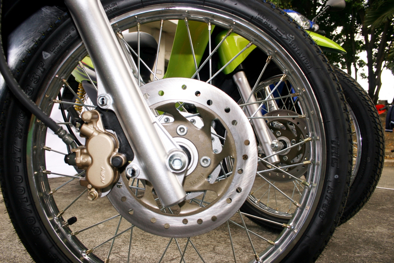File photo of a motorcycle wheel. PHOTO: FILE