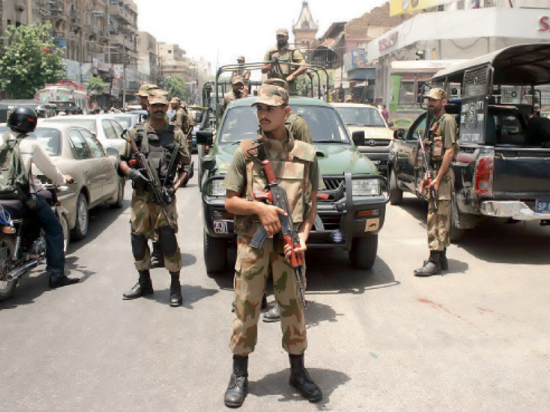 the weapons are first sent to the tribal areas from karachi port and then transferred to the city says dg rangers photo file