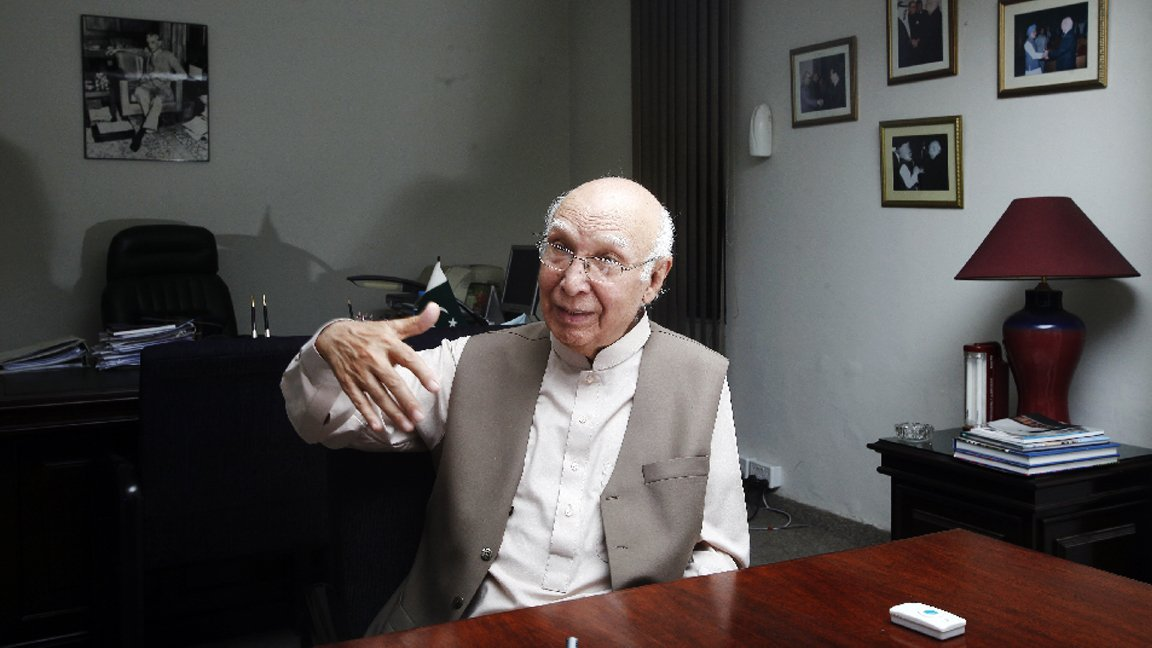Adviser to the Prime Minister on Foreign Affairs and National Security Sartaz Aziz. PHOTO: REUTERS