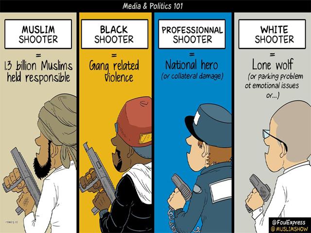when a white terrorist is awarded a privilege 1 8 billion muslims are denied