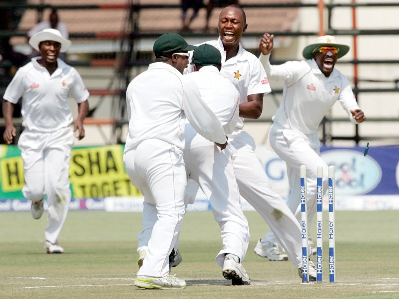 Zimbabwe returned to the ICC Test rankings for the first time since May 2007 after leveling the two-match series against Pakistan yesterday. PHOTO: AFP