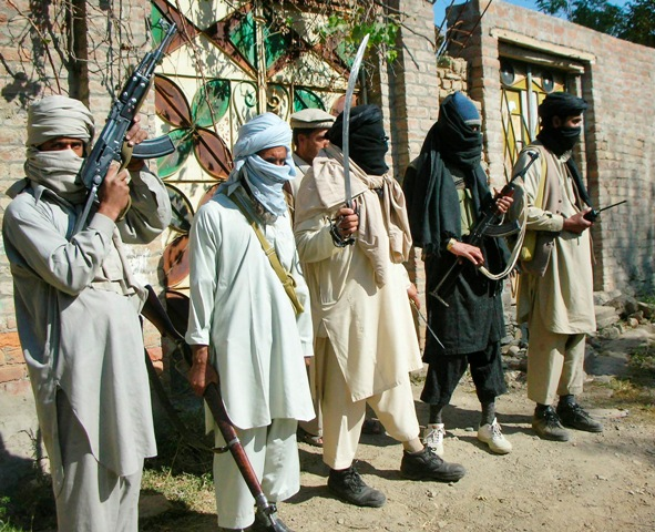 An old photo of Taliban militants in Swat. PHOTO: REUTERS