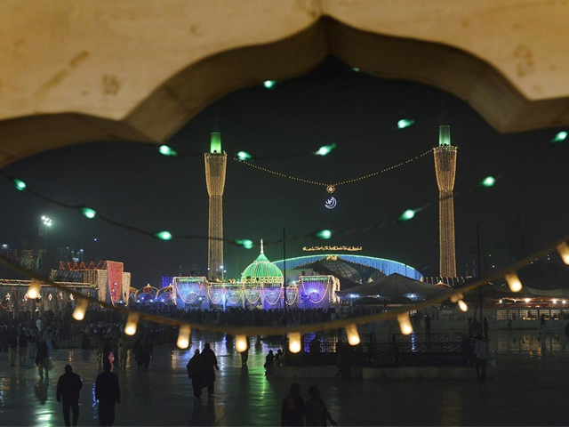 Devotees gather at the shrine of Sufi Saint Data Ganj Bakhsh in Lahore. PHOTO: AFP