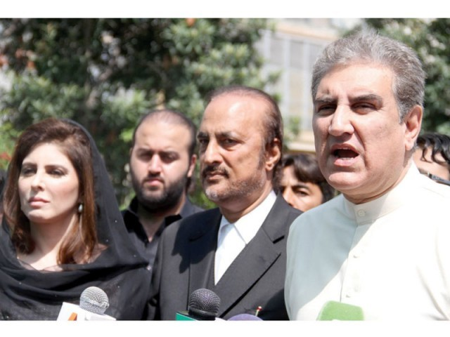 PTI leaders denounced the by-election as rigged last month. PHOTO: INP/FILE
