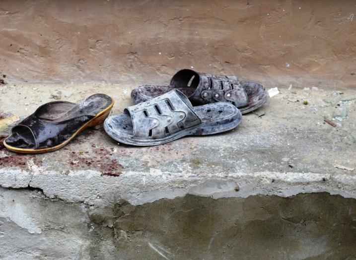 footwear outside a blast site in quetta photo reuters file