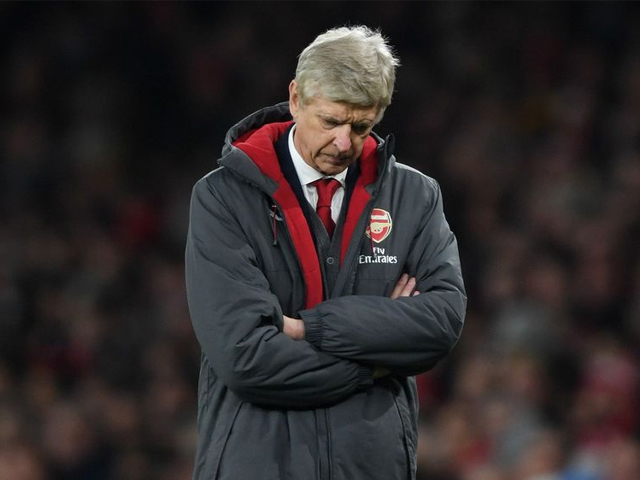 Arsene Wenger of Arsenal shows his disappointment during the Premier League match between Arsenal and Manchester United at Emirates Stadium on December 2, 2017 in London, England. PHOTO: GETTY