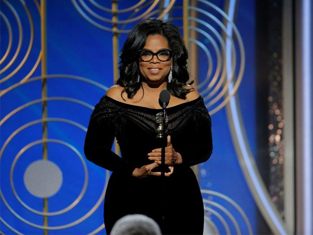 in this handout photo provided by nbcuniversal oprah winfrey accepts the 2018 cecil b demille award speaks onstage during the 75th annual golden globe awards at the beverly hilton hotel on january 7 2018 in beverly hills california photo getty