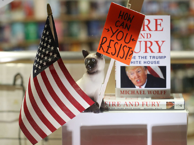 the window display at waterstone 039 s piccadilly shows copies of one of the uk 039 s first consignments of 039 fire and fury inside the trump white house 039 by michael wolff on january 9 2018 in london england photo getty