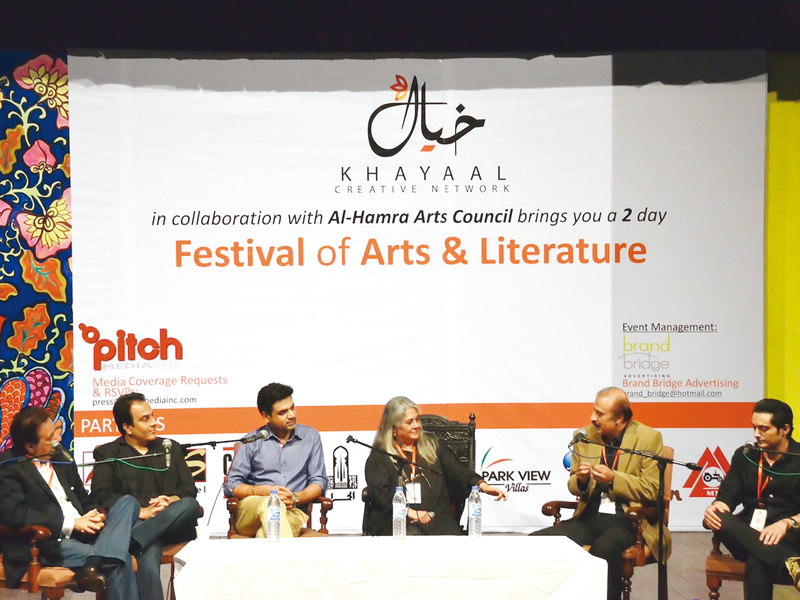 A panel of experts during a session discussing Pakistani films. PHOTOS: NUZHAT SAADIA SIDDIQI & MALIK SHAFIQ