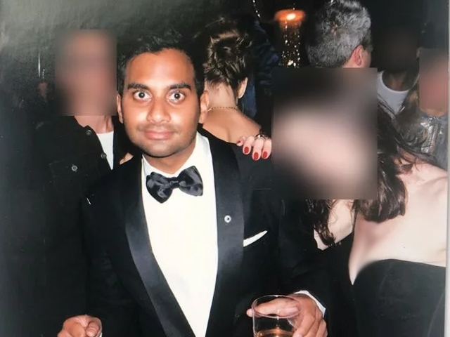 One of two photos Grace took of Ansari at the Emmys after party. PHOTO: BABE.NET