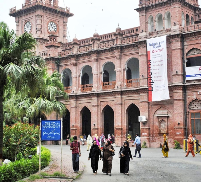 Some protesters said that they were finding it difficult to study for upcoming exams because they had been going from office to office to get a room assigned to them. PHOTO: EXPRESS