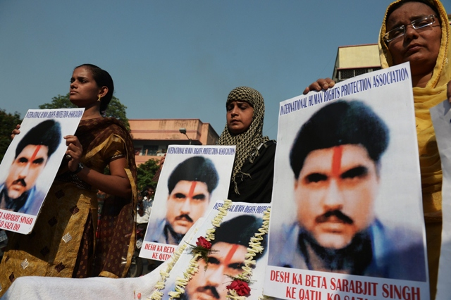 indian mission will make the arrangements to send the sarabjit s belongings to his family in india photo afp file