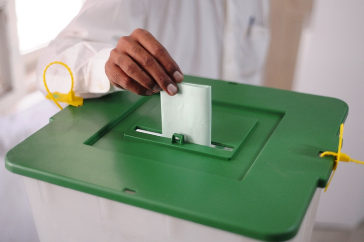 a single voter in a karachi constituency cast his vote 44 times photo afp