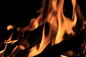 Fire erupts in freight train wagons