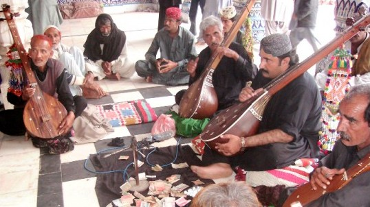 """""""The branches of Sindh's folk music are numerous just like its literature. Ceremonial songs hold particular importance,"""" Sindh Abhyas Academy founding-director Dr Ghazala Rahman Rafiq. PHOTO: SABA CHANNA/FILE"""