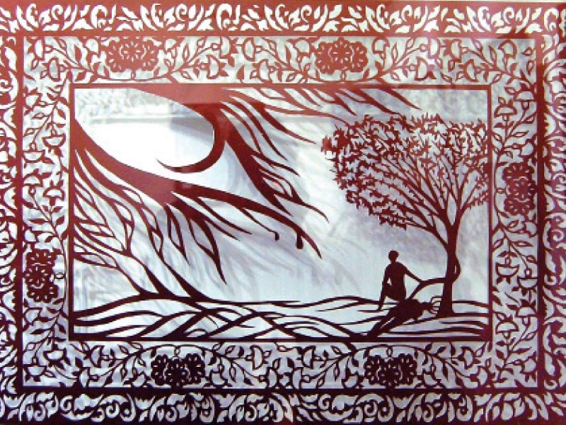a combination of paper cuttings and shadows renders the work into masterpieces photo muhammad javaid express