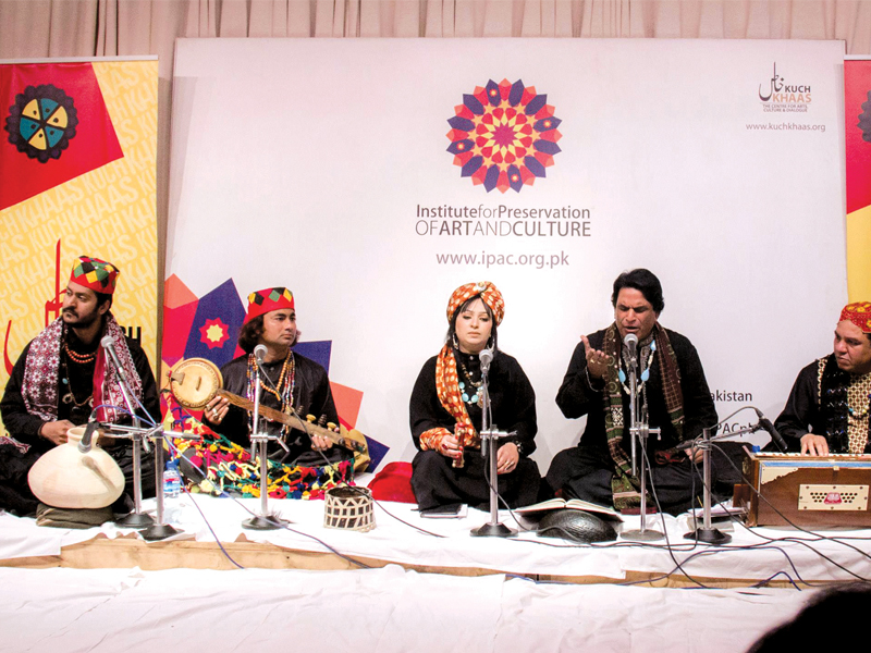 Seasoned folk musicians mark an end to the year at Kuch Khaas. PHOTO: EXPRESS