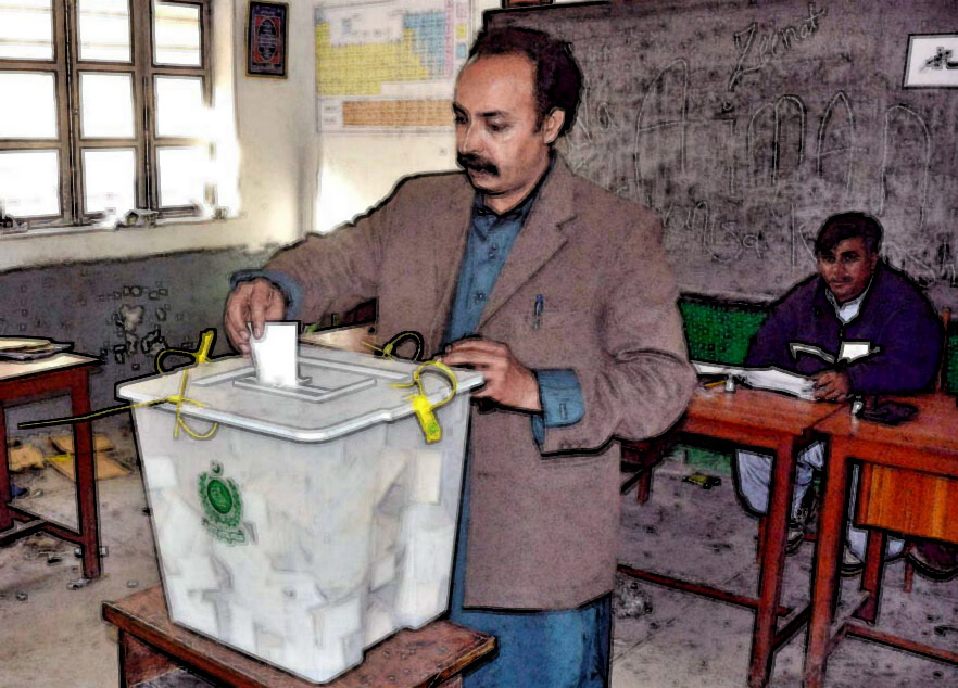 voter hadi buksh son of khanpur district resident saki jatoi voted 310 times for the women s only polling station no 209 read the tribunal s report photo app file