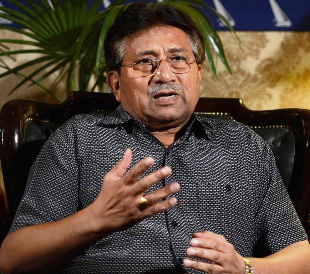 Pervez Musharraf gestures during a press conference in Karachi on March 31, 2013. PHOTO: AFP/FILE