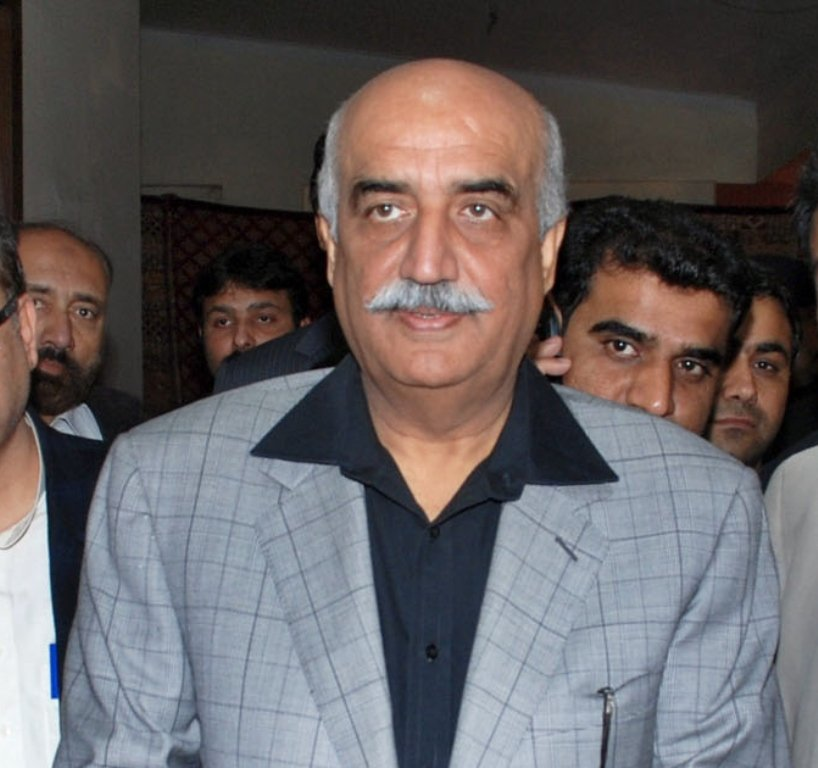 Leader of Opposition in the National Assembly Syed Khursheed Shah. PHOTO: RIAZ AHMED