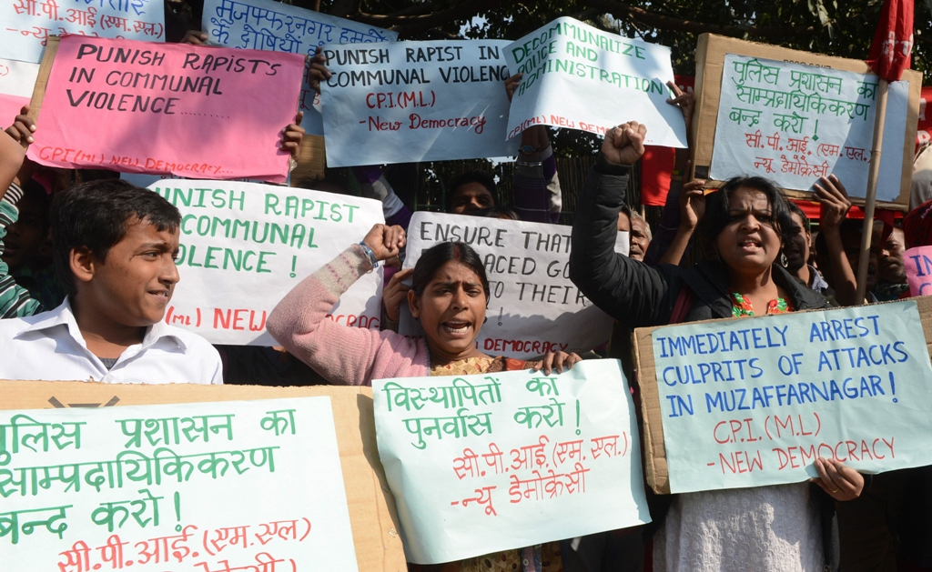 People protest in India against gang rape. PHOTO: AFP