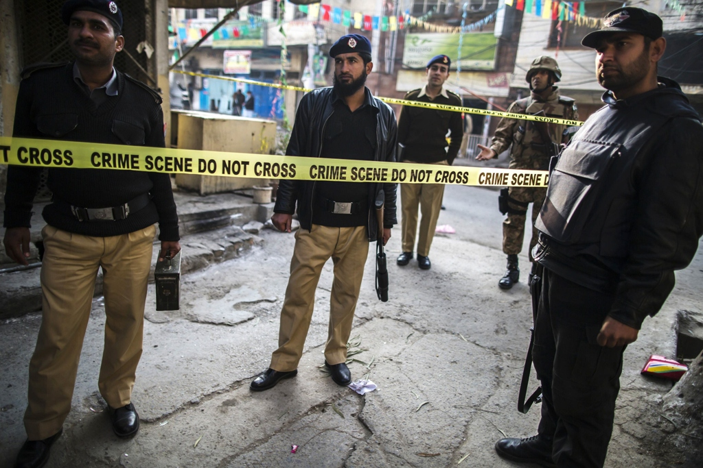 security officials cordon off the site of a suicide blast in rawalpindi january 20 2014 photo reuters