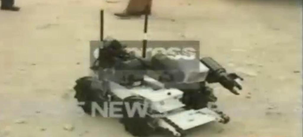express news screengrab of the robot used to defuse the bomb