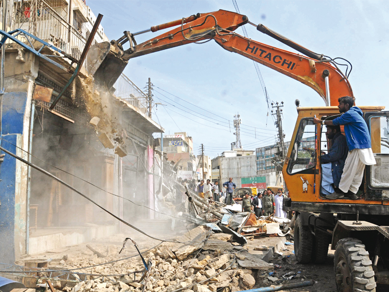 anti encroachment operation no you cantt says clifton to builder mafia not any more