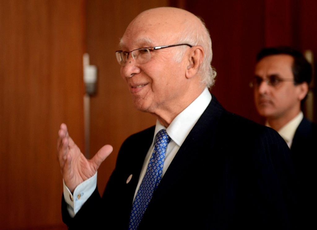 adviser to prime minister nawaz sharif on foreign affairs sartaj aziz photo afp