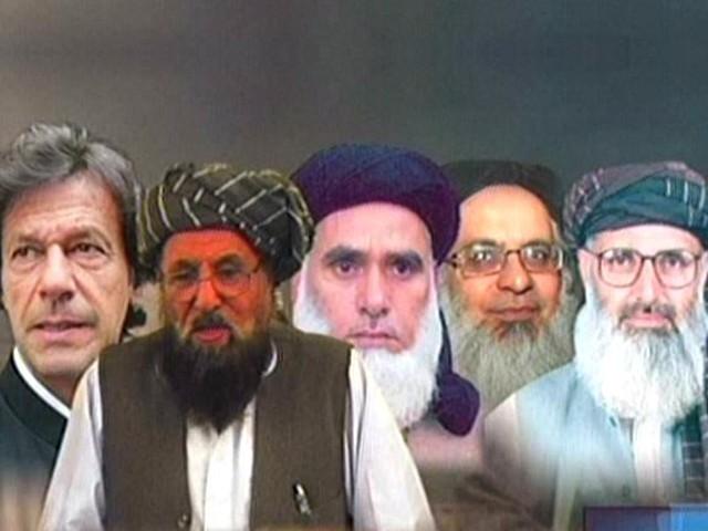 The five member committee includes Imran Khan, Maulana Samiul Haq, Mufti Kifayatullah, Maulana Abdul Aziz and Prof Ibrahim. PHOTO: EXPRESS