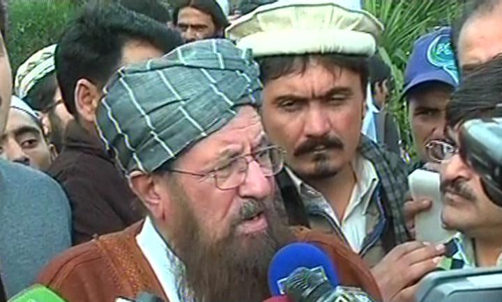 express news screengrab of jui s chief samiul haq speaking to the media