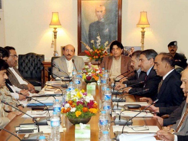 The interior minister stressed that it was important for the federal and the provincial governments to work together to deal with the situation. PHOTO: PPI