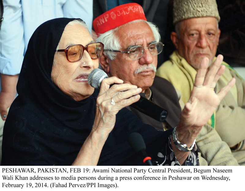 Begum Naseem stated the organisation process of the party will be completed by April. PHOTO: PPI
