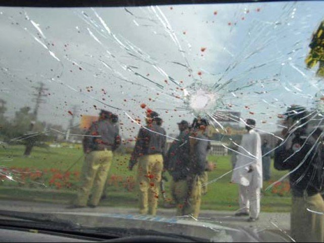 Five years back on this day (March 3, 2009) terrorists attacked Sri Lanka's cricket team in a posh locality of Lahore as they were visiting Pakistan on an international tour. PHOTO: AFP