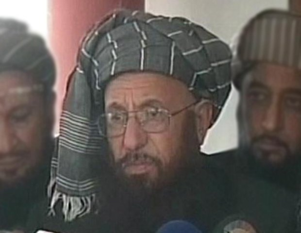 express news screengrab of jamiat ulema e islam samiul haq chief maulana samiul haq